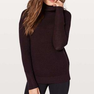 Lululemon Purple Warm and Restore Sweater